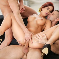 Katie Fucking With Two Guys-12