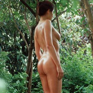 Busty Lyann Is Naked In The Forest-00