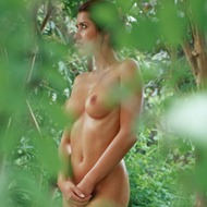 Busty Lyann Is Naked In The Forest-03