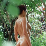 Busty Lyann Is Naked In The Forest-06