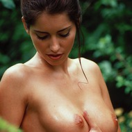 Busty Lyann Is Naked In The Forest-07