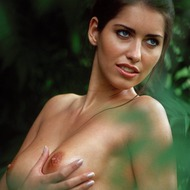 Busty Lyann Is Naked In The Forest-12