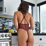 Sexy Tara Stripping In The Kitchen-13