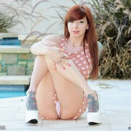Tattooed Ivy is naked by the pool-04