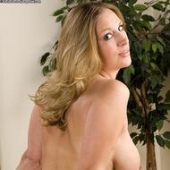 Busty Blonde MILF Strips-08
