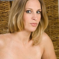 Busty Blonde MILF Strips-10