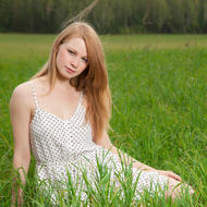 Naked redhead teen having fun outdoors-15