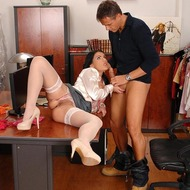 Hardcore blowjob set in the office-06