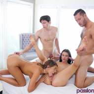 Lana Rhoades And Adriana Chechik In Foursome Action-04