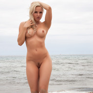 Busty Victoria Angel Posing At The Beach-05
