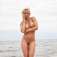 Busty Victoria Angel Posing At The Beach-06