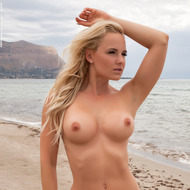 Busty Victoria Angel Posing At The Beach-08