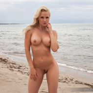 Busty Victoria Angel Posing At The Beach-09