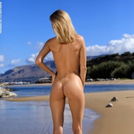 Nancy Is Naked At The Beach-05