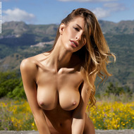 Busty Claudia Gets Naked Outdoors-03