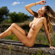 Busty Claudia Gets Naked Outdoors-06