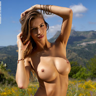 Busty Claudia Gets Naked Outdoors-10