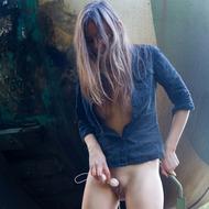 Naughty Rebeka Ruby Peeing Outdoors-03