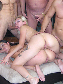 Sluts On A Wild Orgy
