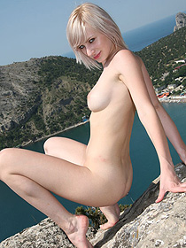 Val Is Naked By The Sea