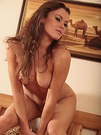 Beautiful Naked Brunette Nastya