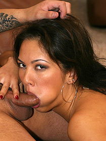 Hot Latina Gives Blowjob