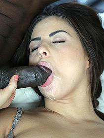 Nikki Waine Sucking A Big Black Cock