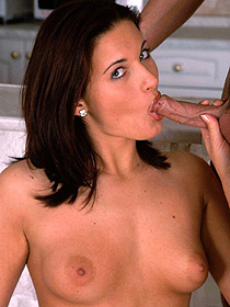 Brunette Slut Gives Blowjob