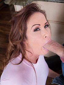 Sabrina Sucks A Big Cocks