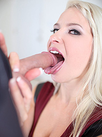 Lovely Annika Sucking A Cock