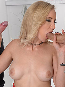Helena Valentine Sucking Two Cocks