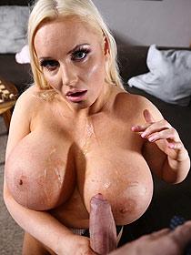 Cum On Her Huge Boobs