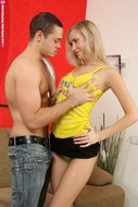 Hot blonde sucks and rides big cock-01